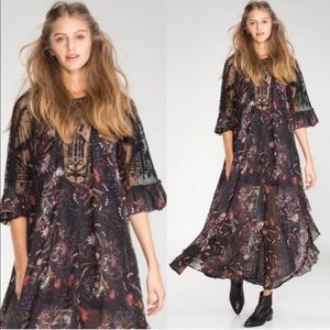 Free People Spirit of the Wild Beaded Dress